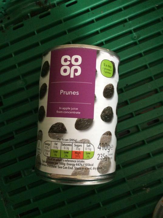 Tinned prunes