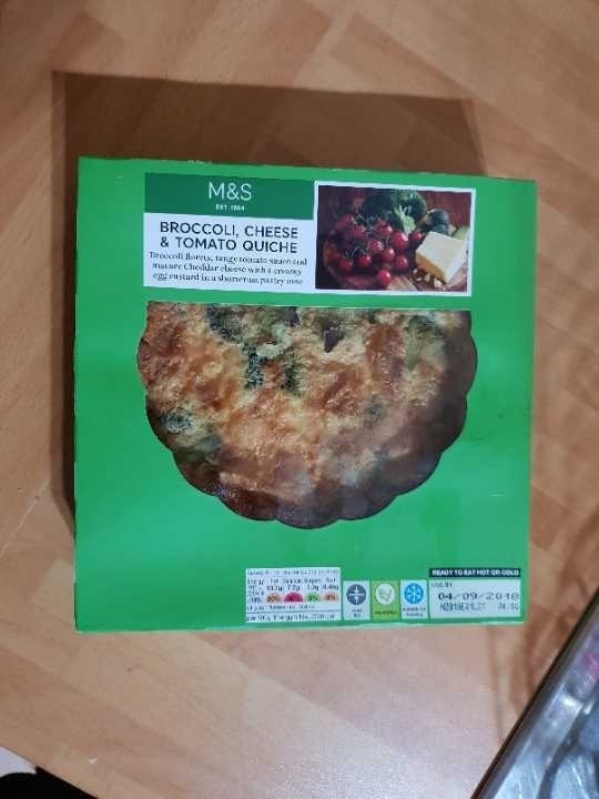 *FROZEN* Marks and Spencer broccoli, cheese and tomato quchie kindly donated by Sharing Sherwood
