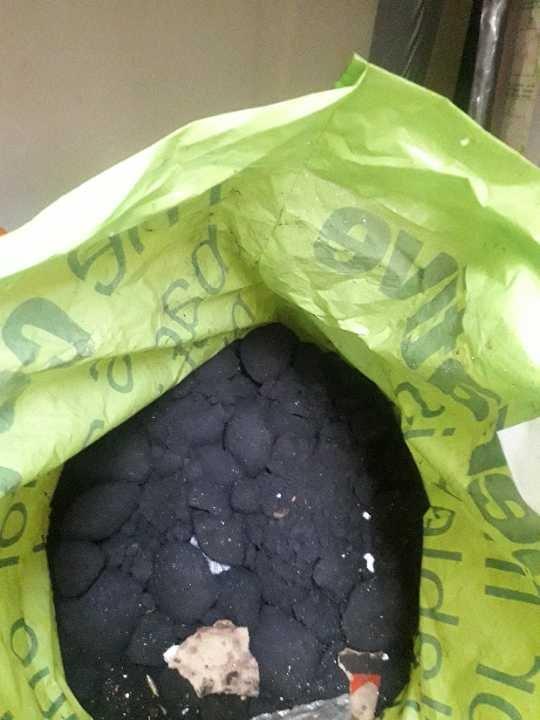 Bag of smokless coal