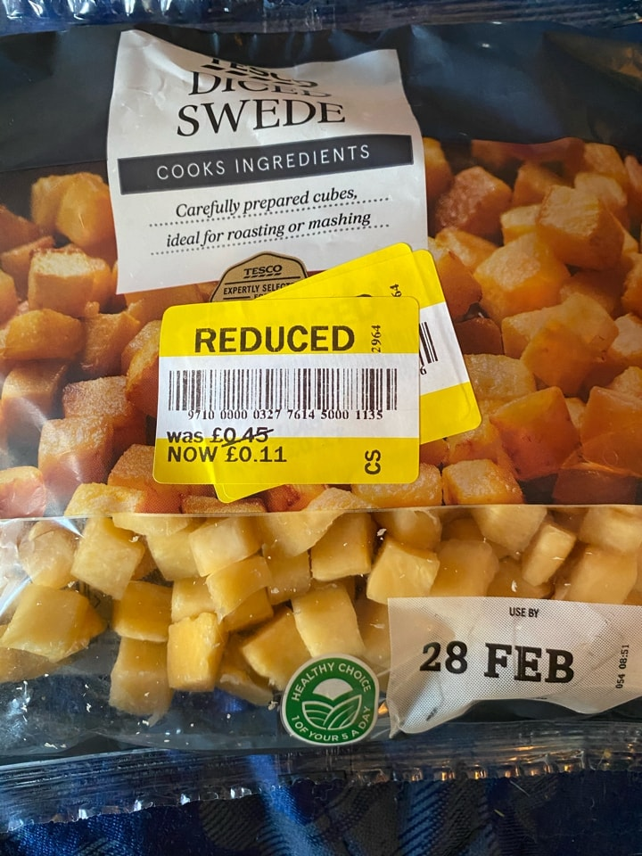 Diced swede