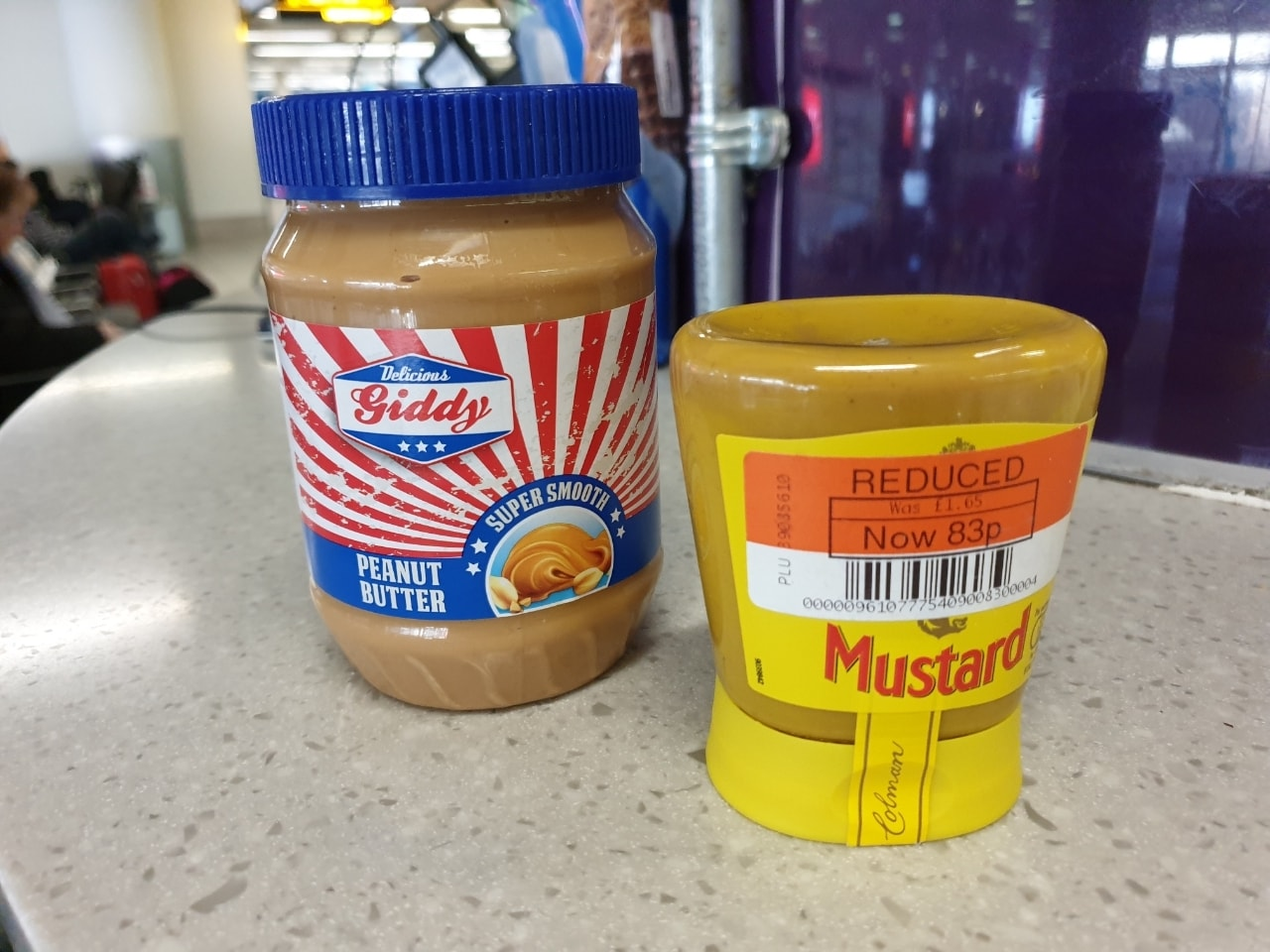 Peanut butter and mustard