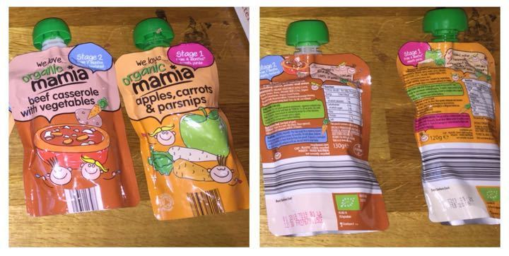 Short dated baby food pouches BBE jan 2017