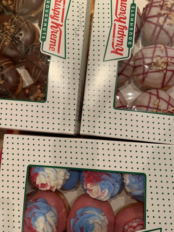 Krispy Kreme doughnuts a selection