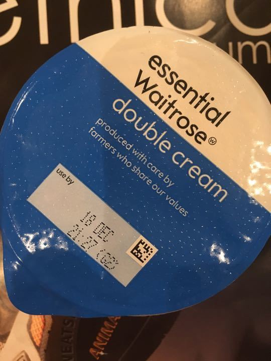 Unopened pot of double cream / salad stuff