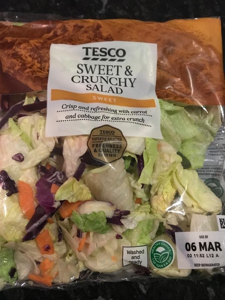 Tesco Sweet and  raunchy Salad
