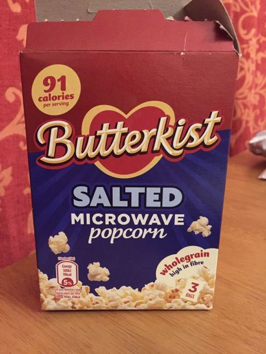 Salted microwave popcorn -1 packet left