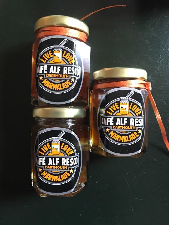 3 small jars of marmalade