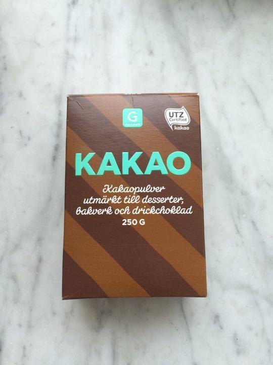 Kakao powder -open package