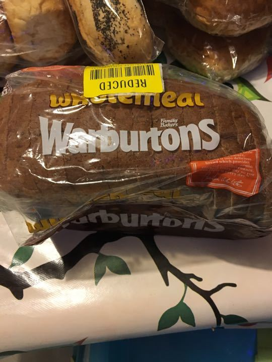 Small warburtons wholemeal loaf
