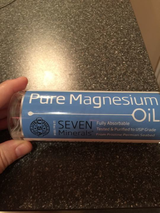 Pure Magnesium Oil body spray.