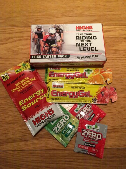Sports gels and drinks powder