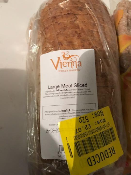 Large meal sliced loaf