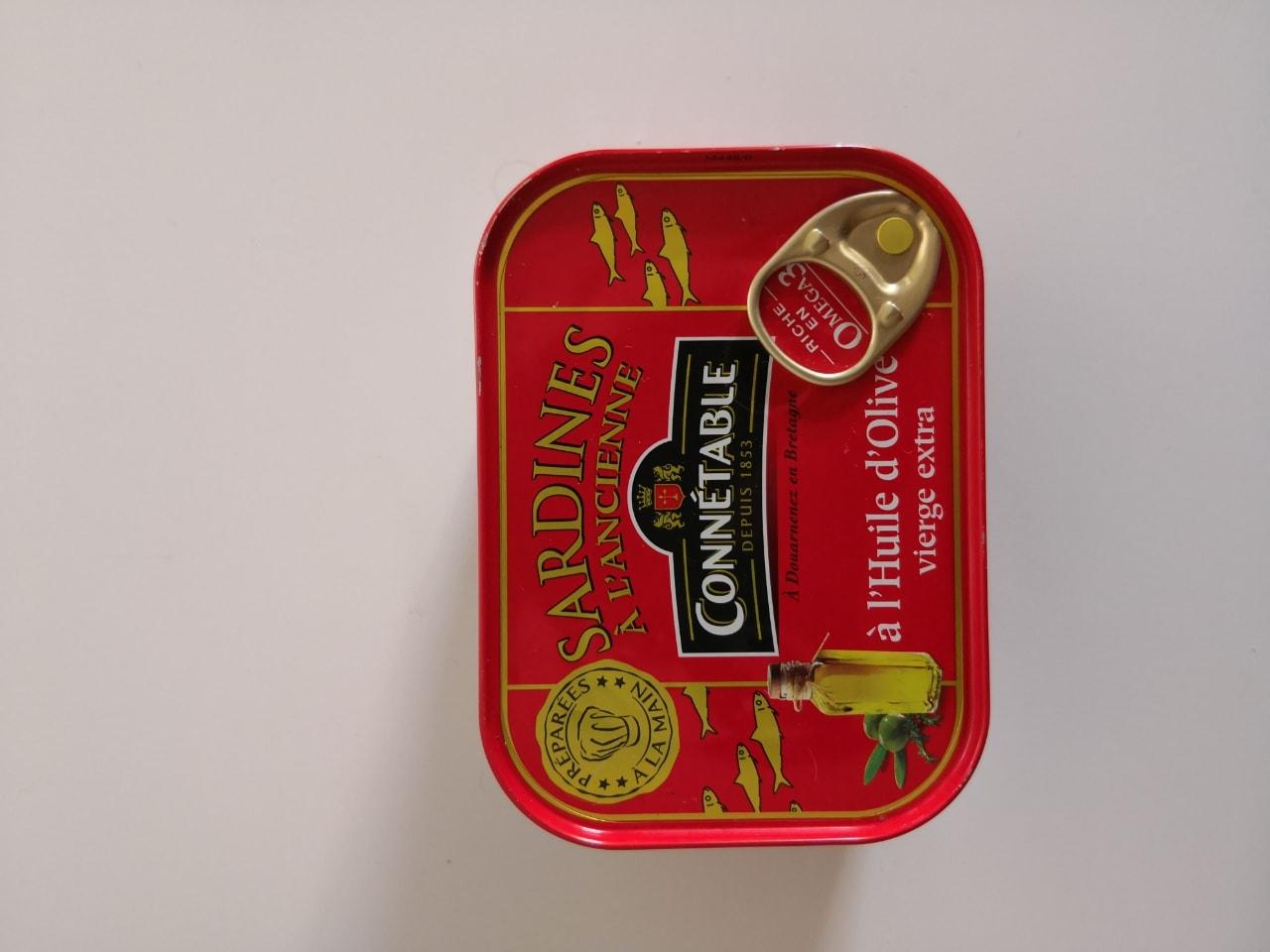 Sardinas parisinas al aceite de oliva.
