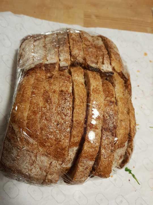 Delicious sliced sourdough bread.
