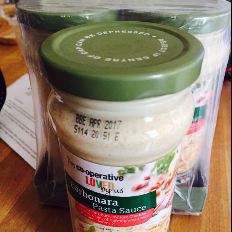 3 jars of carbonara sauce