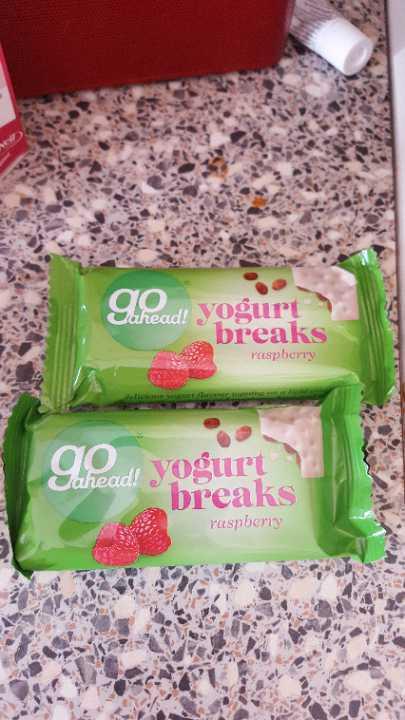 Go Ahead Yoghurt breaks raspberry x 2