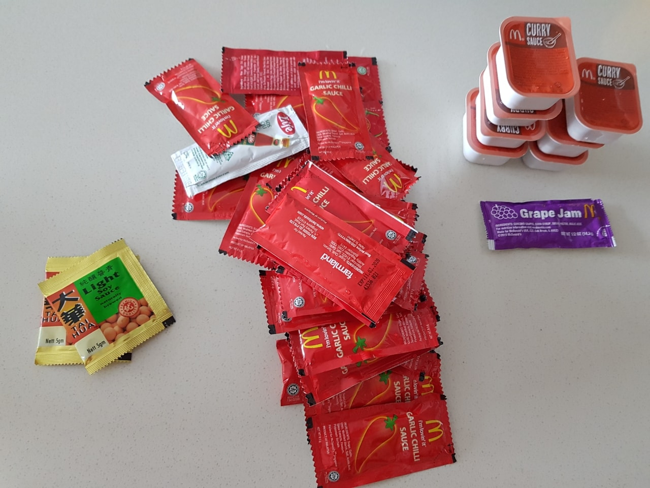 Packet sauces