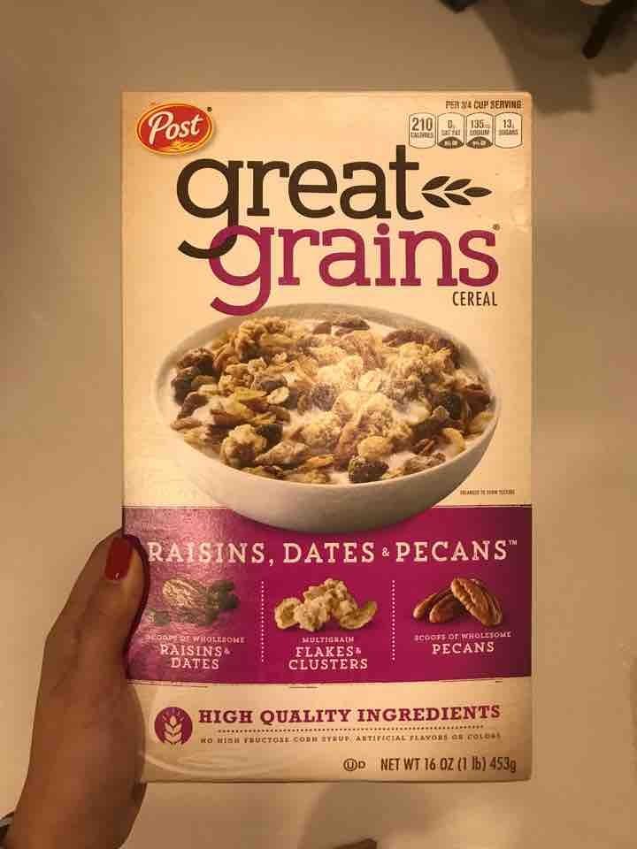 Great Grains cereal. Expires Jan 2020