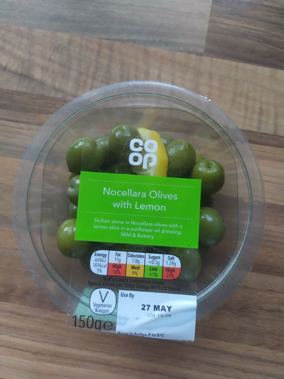 Nocellara Olives with lemon