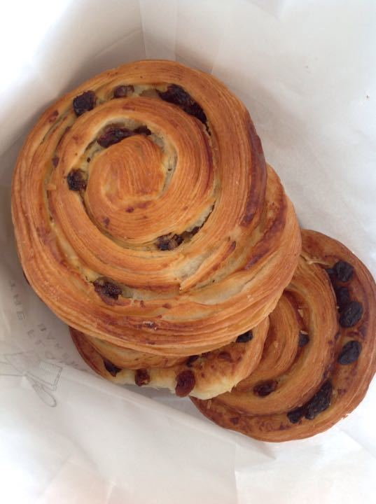 Pain au raisins from local bakery