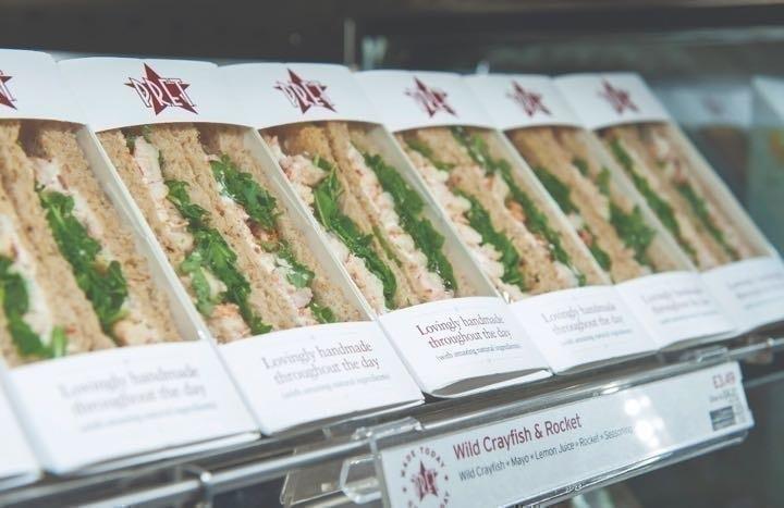 Sandwiches baguettes wraps etc