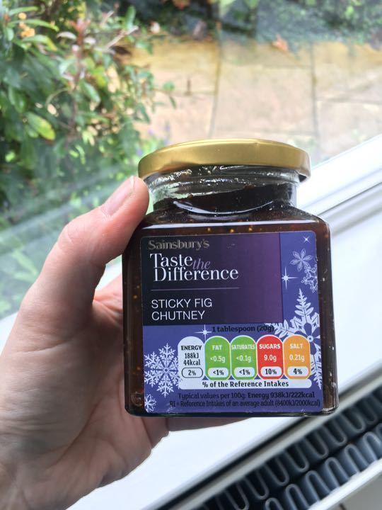 Sainsbury's sticky fig chutney