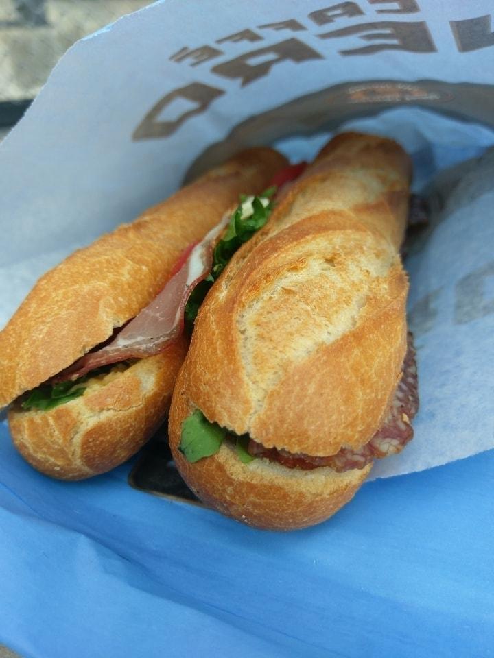 Meat baguette sandwiches
