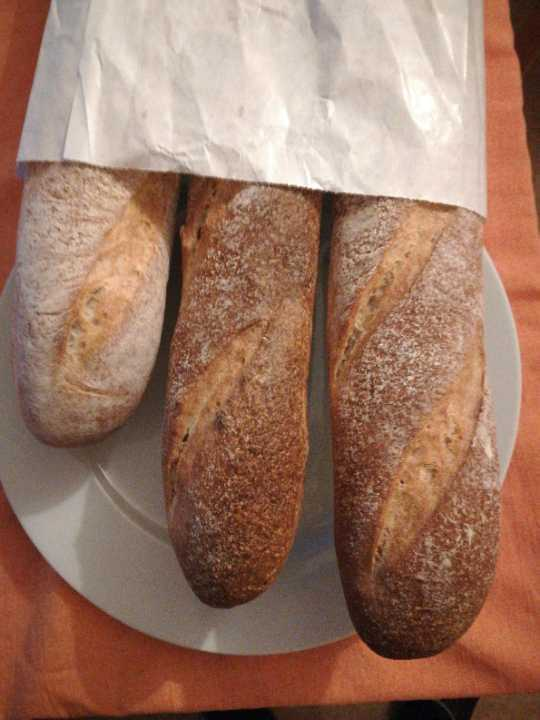 Two baguettes from PeSso bageri