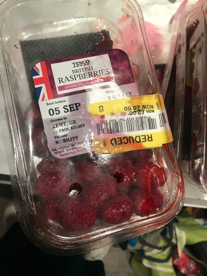 Squished raspberries
