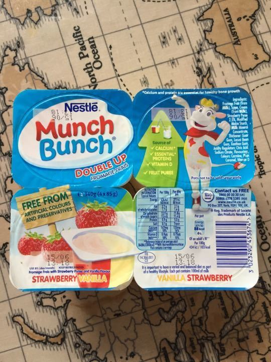 Munch bunch double up fromage frais