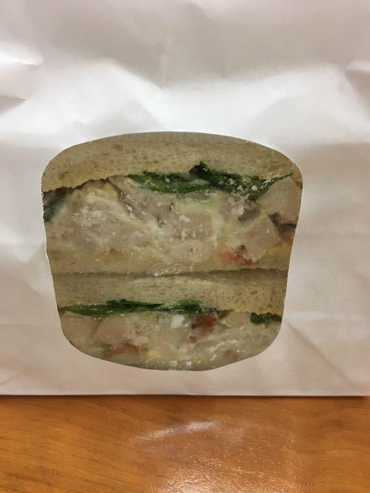 Chicken Bacon mayonnaise salad sandwich