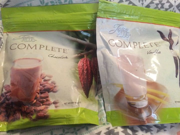 Juice Plus. One chocolate. One vanilla.