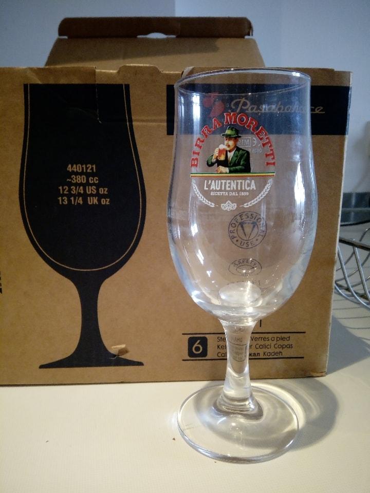 5 Birra Moretti glasses