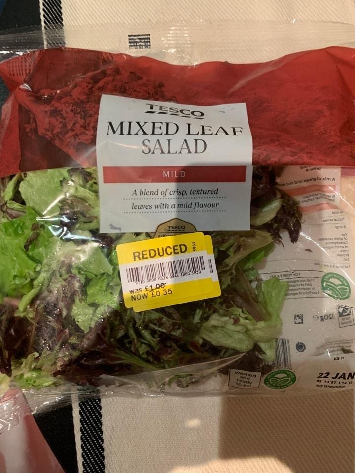 Tesco mixed salad