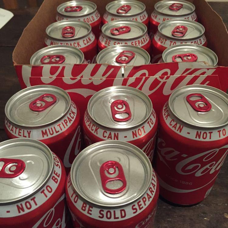 14 cans of Coke (full fat)