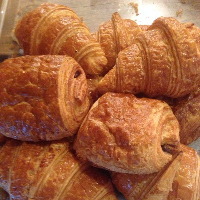 Croissants and pain a choc