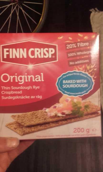 Finn crisp orginal sourdough rye bread packs