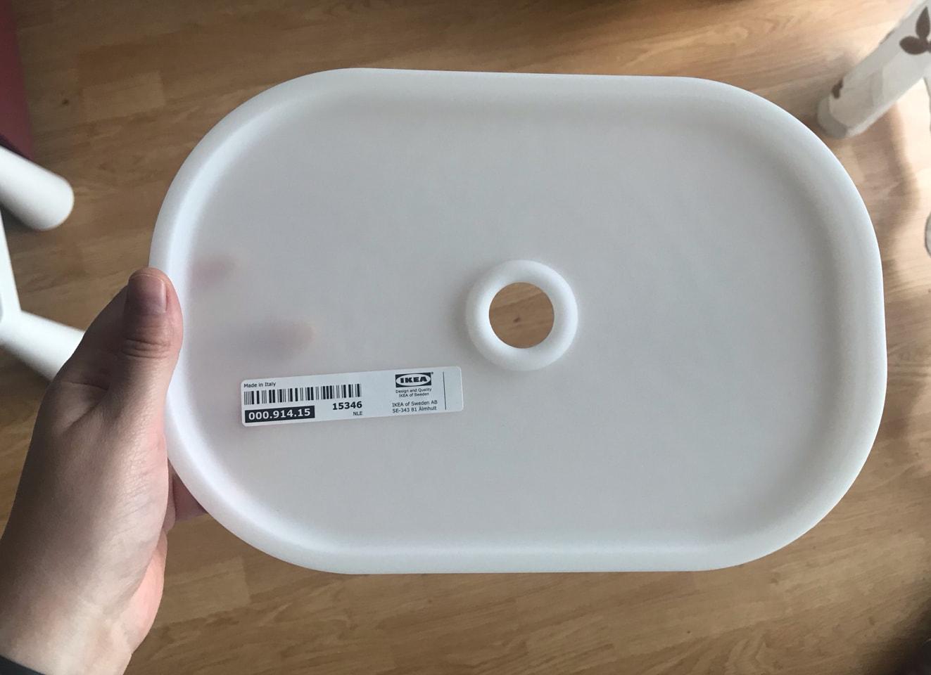 4 Capace pentru cutii ikea trofast, albe 20x28 cm