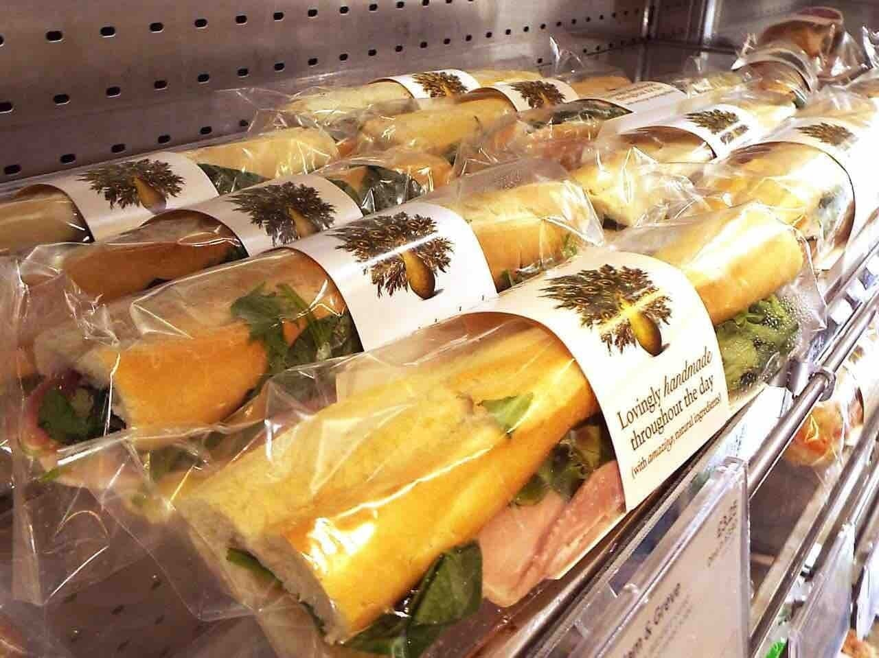 Pret A Manger baguettes, sandwiches and salads