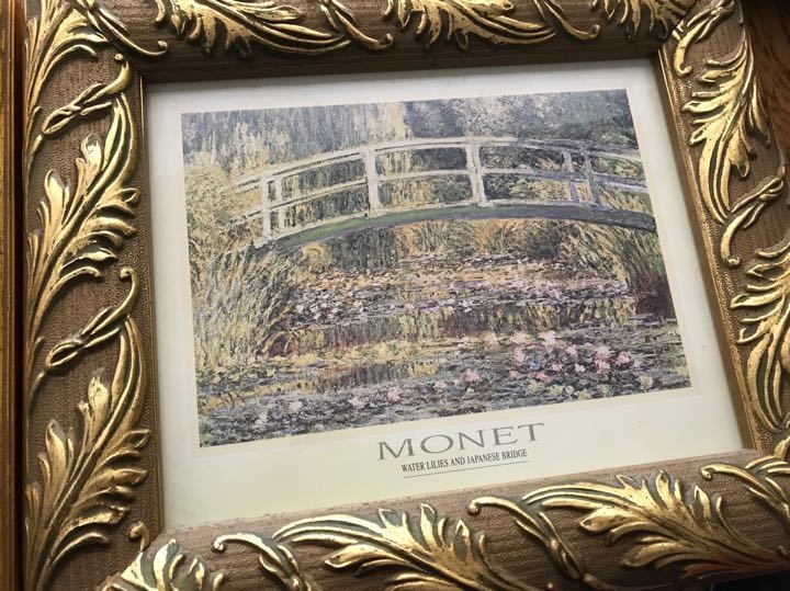 Framed Monet print