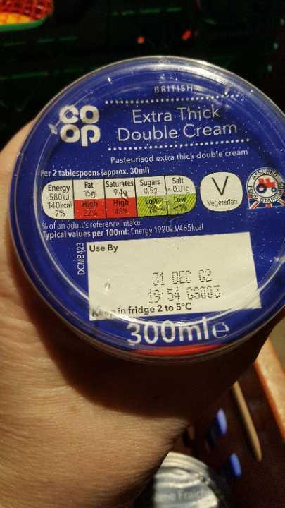 Extra thick double cream