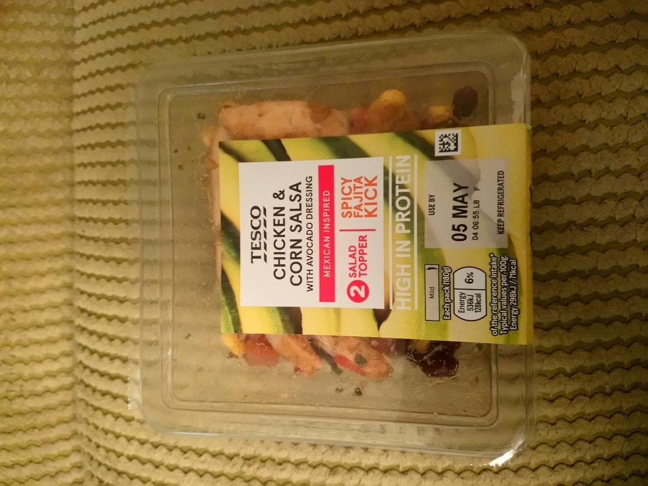 Chicken and corn salsa
