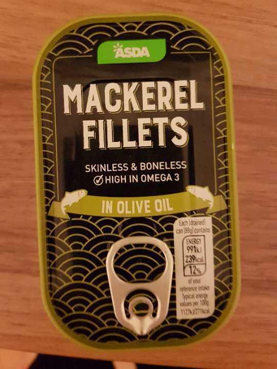 Asda mackerel fillets in olive oil