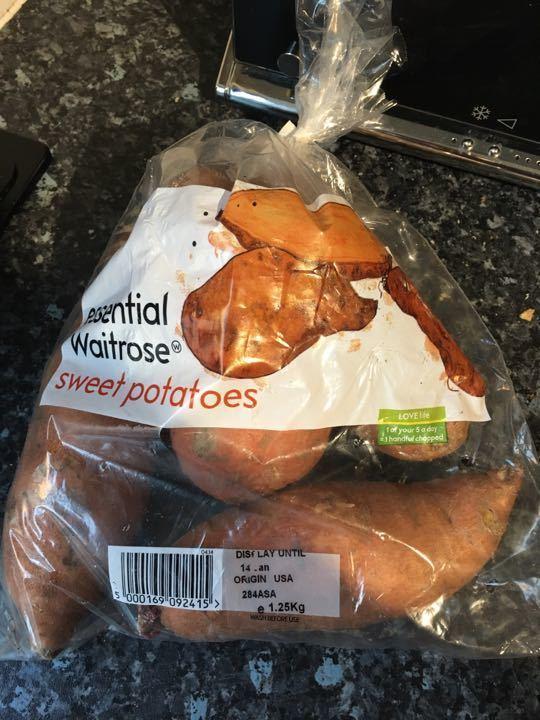 Sweet potatoes, unopened bag