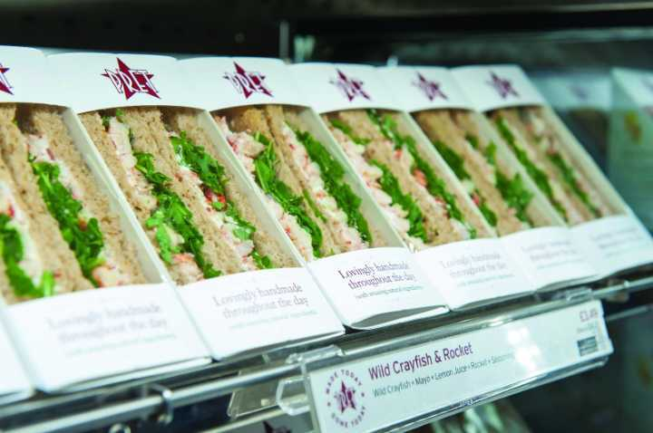 Assorted sandwiches from Pret