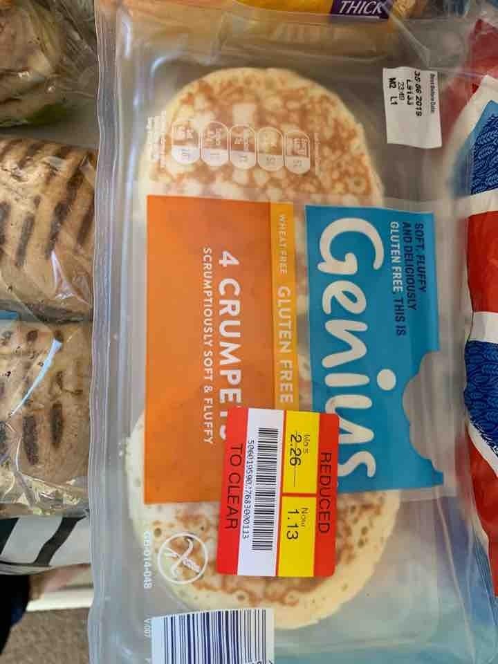Genius gluten free crumpets