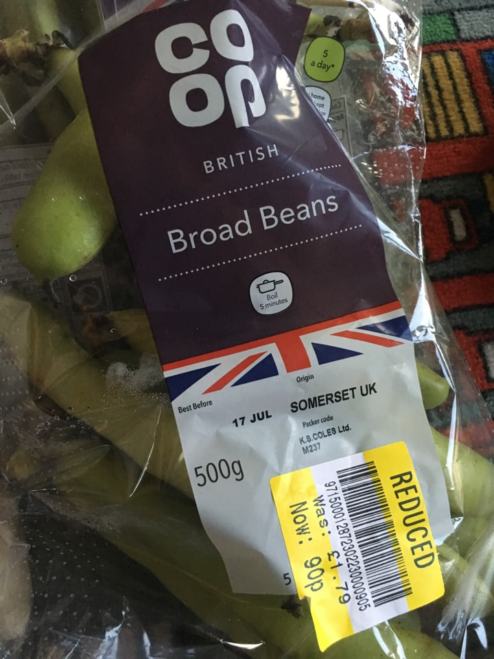 3 x broad beans