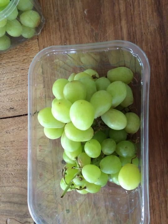 X2 box of white seedless grapes one request per family