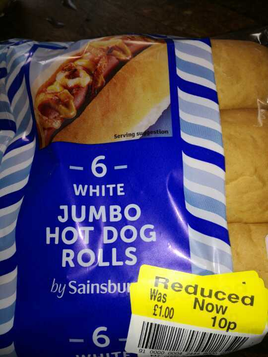 Jumbo not dog rolls
