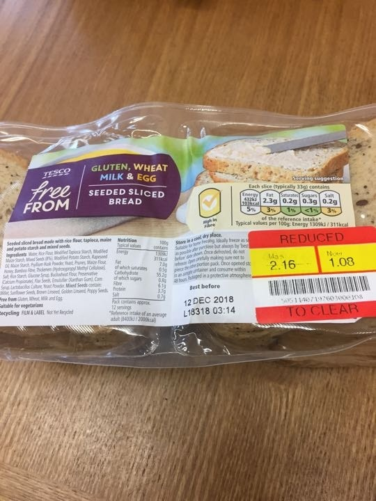 'Free from' seeded bread